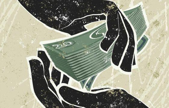 Money changinghandscartoon
