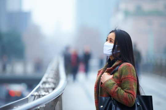 Bad air quality in Asia